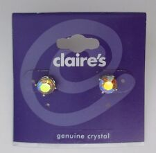 LLD Genuine Crystal borealis iridescent stud EARRINGS jewelry