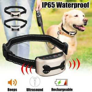 Rechargeable LCD Screen Dog Training Collar Automatic Anti Bark No Barking Shock