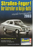 Katalog Revell 2003 Metall Fertigmodelle 1:18 1:12 Trucks 1:24 Flugzeuge 1:72