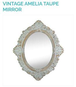Vintage Amelia Taupe Mirror