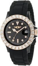 NWOT Invicta Women's IBI-10067-009 Crystal-Accented Black Sport Watch