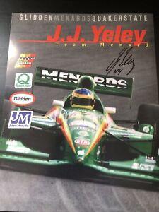 J.J. Yeley Signed 1998 Menards Indy 500 Handout