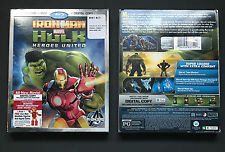 Iron Man & Hulk - Heroes United Blu Ray/DVD (2013) Marvel * Brand New * Avengers