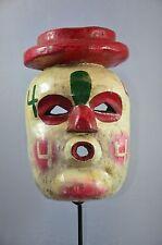 Rare Judas Mask from San Luis Potosi Mexico Folk Art Carnaval Primitive Tribal