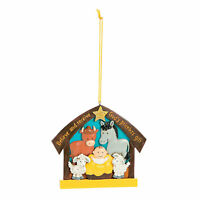 Believe And Receive Nativity Christmas Ornaments - Home Decor - 12 Pieces
