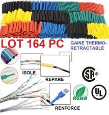 Lot 164 Tube Gaine Thermorétractable Isolation Étanche Câble Réparation Thermo