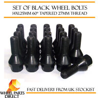 Alloy Wheel Bolts Black (20) 14x1.25 Nuts for Mini Hatch [R56] 06-14
