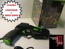 ORIGINAL XBOX LIGHT GUN - House of the Dead 3 III & 4 GAMERS Gun Bundle - UK PAL