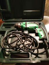 "Hitachi 3/8"" Corded Drill Variable Speed With Case And Paperwork D10VH"