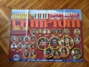 Roma, manifesto Roma Campione d'Italia 2000-2001 Totti, Corriere dello Sport
