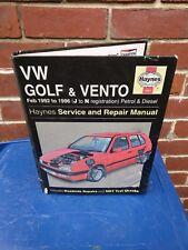 3097 Haynes Manual VW Golf & Vento Petrol & Diesel (Feb 92 - Mar 98)