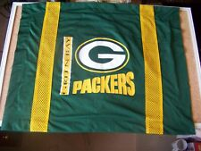 """GB Green Bay Packers bed pillow case only 26"""" x 19.25"""" NFL pillowcase"""