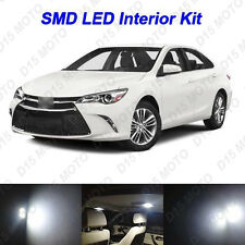 12x Ultra White LED Lights Interior Package kit for 2012-2016 2017 Toyota Camry