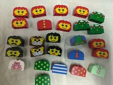 LEGO BRICKS PIECES 4744 lion face dad mom shirt lot parrot bear tie boy rounded