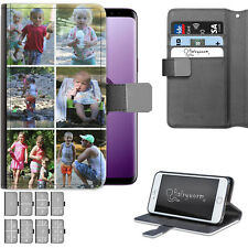 Personalised Photo PU Leather Phone Case Custom Collage Cover For Apple/Samsung