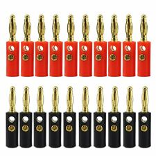 Lot 20Pcs 4mm Gold Plated Audio Speaker Wire Cable Screw Banana Plug Connector ~