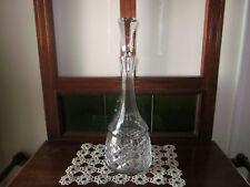 LOVELY VINTAGE TALL DIAMOND CUT LEAD CRYSTAL WINE DECANTER