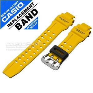 Genuine Casio Watch Band G-Shock Gravity Master GA-1000-9B Yellow Rubber Strap