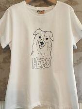 NWT NEW BARBOUR HERO GRAPHIC TEE SHIRT DOG RETREIVER HOUND HERO UK 12 US 18