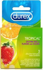 Durex Tropical Flavors Condom, 3 ct (Pack of 2)