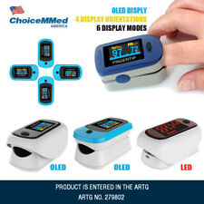 Fingertip Pulse Oximeter OLED Blood Oxygen Saturation Monitor with CarryCase