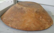 ANTIQUE WOODEN DEEP SHAPELY BOWL OUT OF ROUND GREAT LOOK