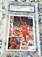 MICHAEL JORDAN 1984 Topps GLOSSY Rookie Card RC GEM MINT 10 Bulls 1992 HOF MVP $