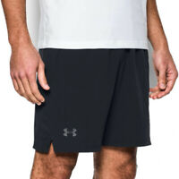 Under Armour UA HeatGear Mens Black Fitted Gym Sports Training Cage Shorts