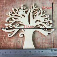 10pcs hölzerne Baum Verzierungen für das Handwerk cm 12,5 Holz Deko blankes I0L4
