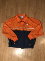 Vintage Logo Athletic NFL Denver Broncos Windbreaker Jacket Colorblocked Size XL