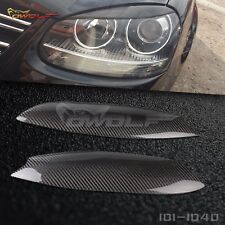 Carbon Fiber Eyebrows Eyelids Headlight Covers for VW Golf 5 MK5 2005-2009 B#
