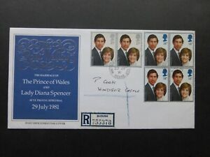 1981 Royal Wedding FDC with Windsor Castle CDS - Cat £175 - very rare