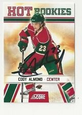 10/11 Score Rookie Autographed Hockey Card Cody Almond Minnesota Wild