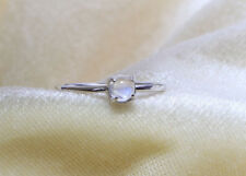 18K solid gold ring moonstone ring, solitaire rainbow ring, fine ring  SJR0848