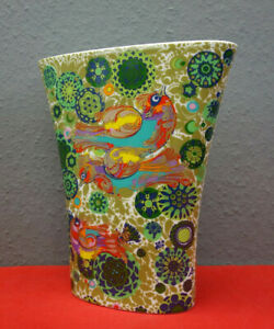 XXL Rosenthal Vase / Feuervogel / Porzellan / Björn Wiinblad / 32cm Hoch