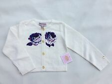 Juicy Couture Kids / Baby White Cardigan With Flowers Size  18/24 M