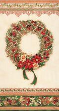 Panel de tela de 1 vacaciones Florecer Navidad Guirnalda Panel De Tela - 15145-223