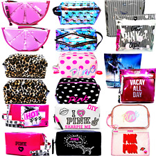 Victoria's Secret PINK COSMETIC Train CASE Travel Beauty Bags Pouch Clutch n Mor