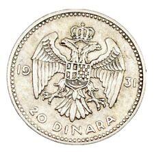 More details for yugoslavia 1931 20 dinara silver.500 aleksandar i a/unc coin 14.03gms