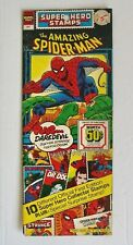 Vintage 1976 Amazing Spider-Man Official Marvel Super Hero Stamps Sealed NOS NWT