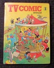 1970 TV COMIC Annual UK HC Popeye Dr. Who Tom & Jerry VG/FN
