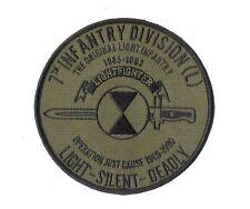 "4 1/2"" 7th Infantry Division - Lightfighter - OD Green ""The ORIGINAL Light INF"""