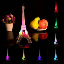 Romantic Eiffel Tower Desk Bedroom Night Light Decoration Table LED Lamp Gift