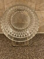 Vintage Lead Cut Crystal Starburst Bowl Or Candy Dish Heavy