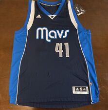 Rare Adidas NBA Dallas Mavericks Dirk Nowitzki Mavs Basketball Jersey