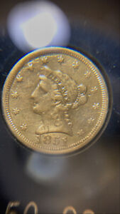 1851 $2.50 Gold Quarter Eagle Damaged Cleaned