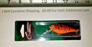 10-21 COTTON CORDELL DEEP C.C. SHAD Red Orange Craw 3-1/4 fishing lure