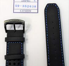 Original Citizen Primo CA0467-03E Black Leather Strap Band w/ Blue Stitches