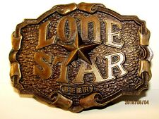 LONE STAR Belt Buckle / Opener-Original 1975 Aged Brass-NOS Made In USA