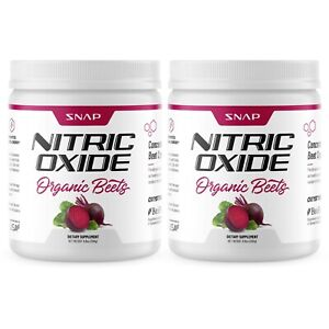 Organic Nitric Oxide Beet Root Powder Super beets, Muscle & Heart Health, 2 Pack